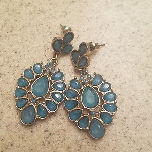 Beautiful Blue and Gold Earrings
